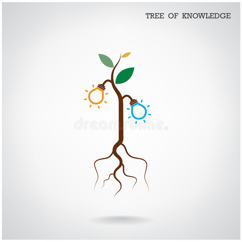 Arbre de concept de la connaissance Signe d'éducation et d'affaires illustration libre de droits
