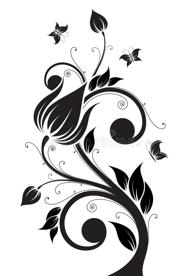 arbre de fleur illustration de vecteur