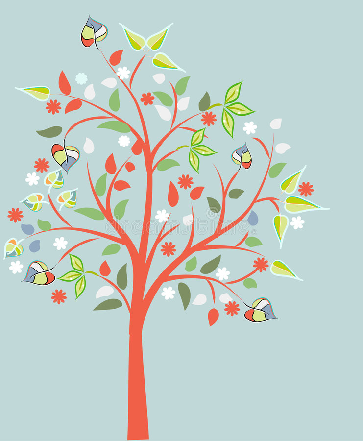 Arbre de floraison illustration stock