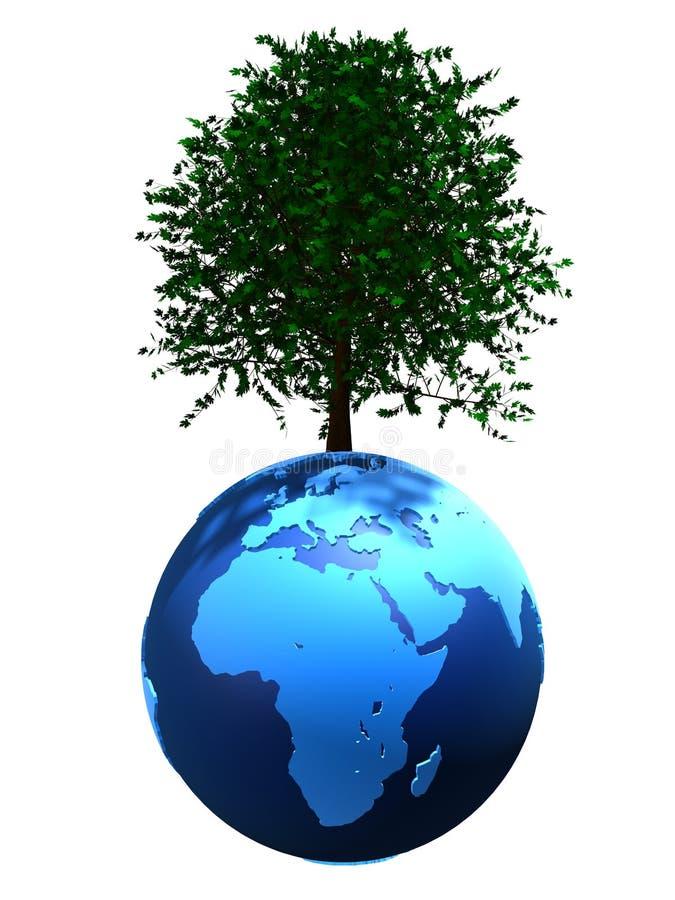 arbre de globe illustration de vecteur