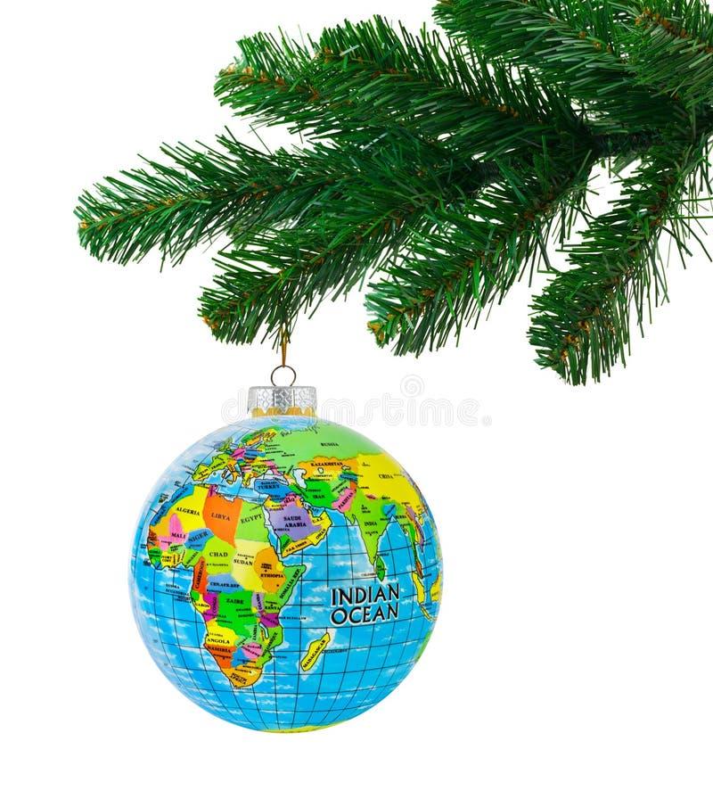 Arbre de globe et de Noël photos stock