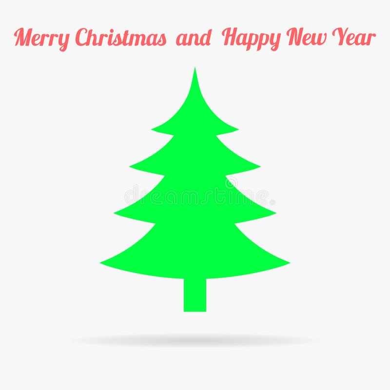 Arbre de Gren Christmas Icône plate de vecteur illustration libre de droits