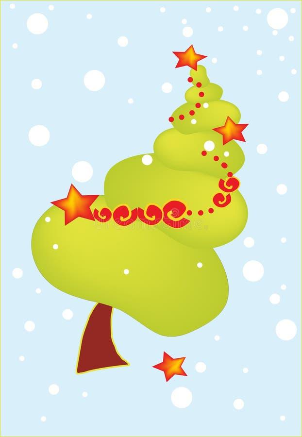 Arbre de Joyeux Noël illustration de vecteur
