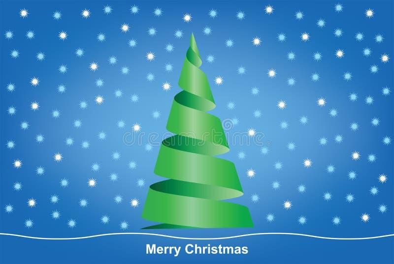Arbre de Joyeux Noël sur un fond de tache floue illustration de vecteur