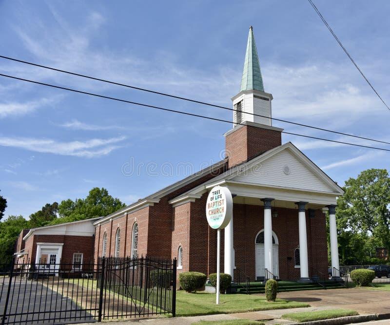Arbre de la vie Baptist Church Sign, Memphis, Tennessee photos stock