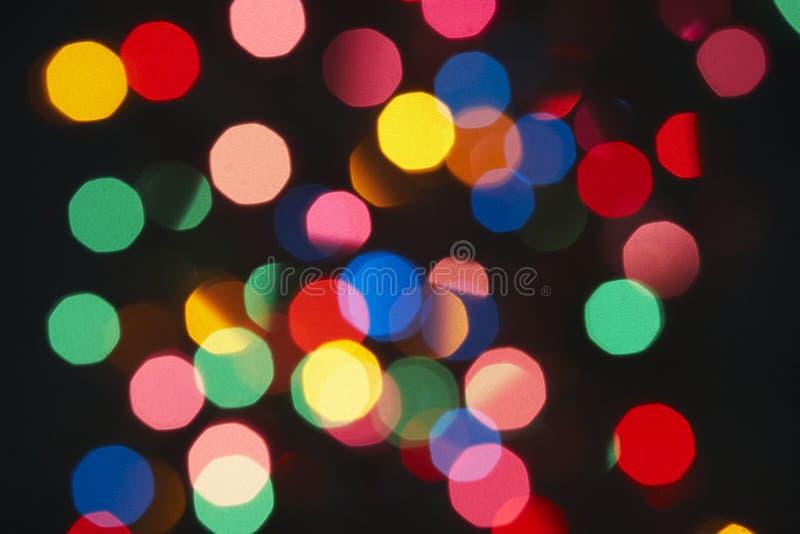 arbre de lumières de Noël photo libre de droits