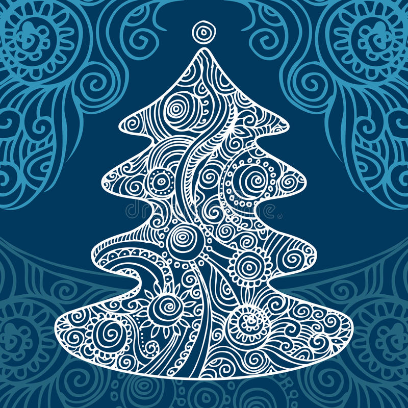 Arbre de Noël élégant illustration stock