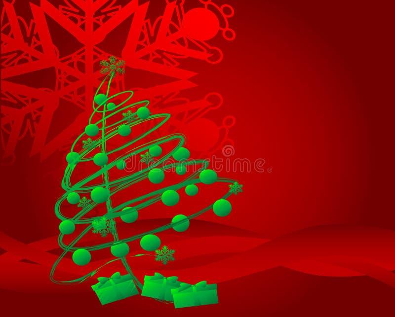 Arbre de Noël 04 illustration de vecteur