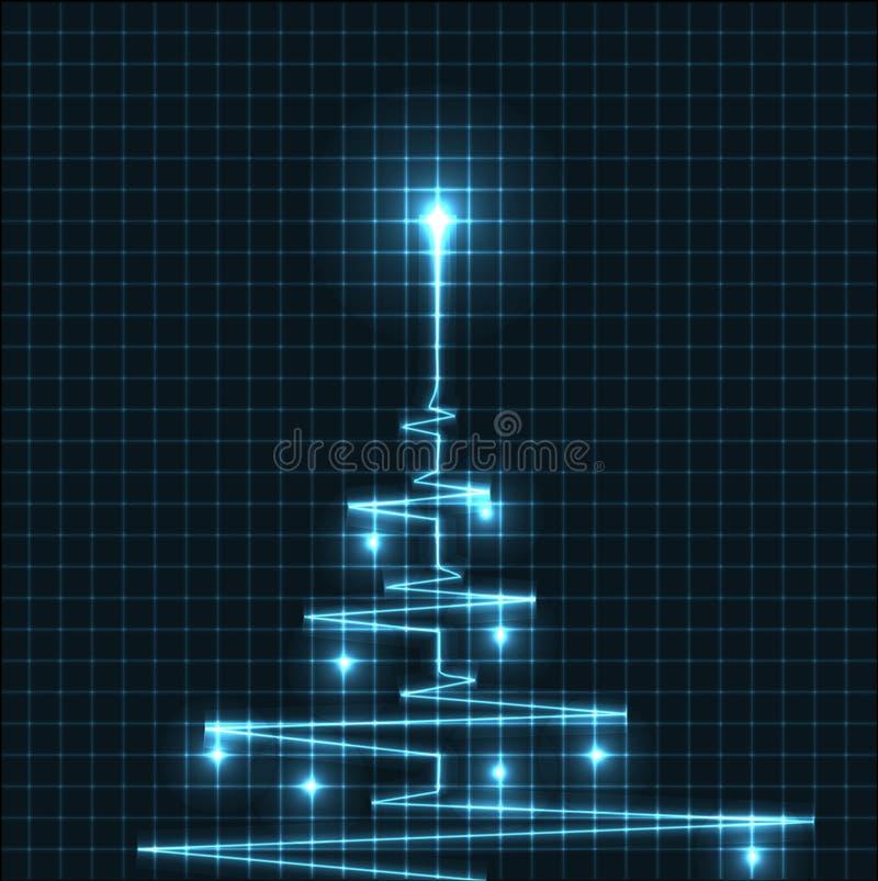 Arbre de Noël abstrait illustration stock