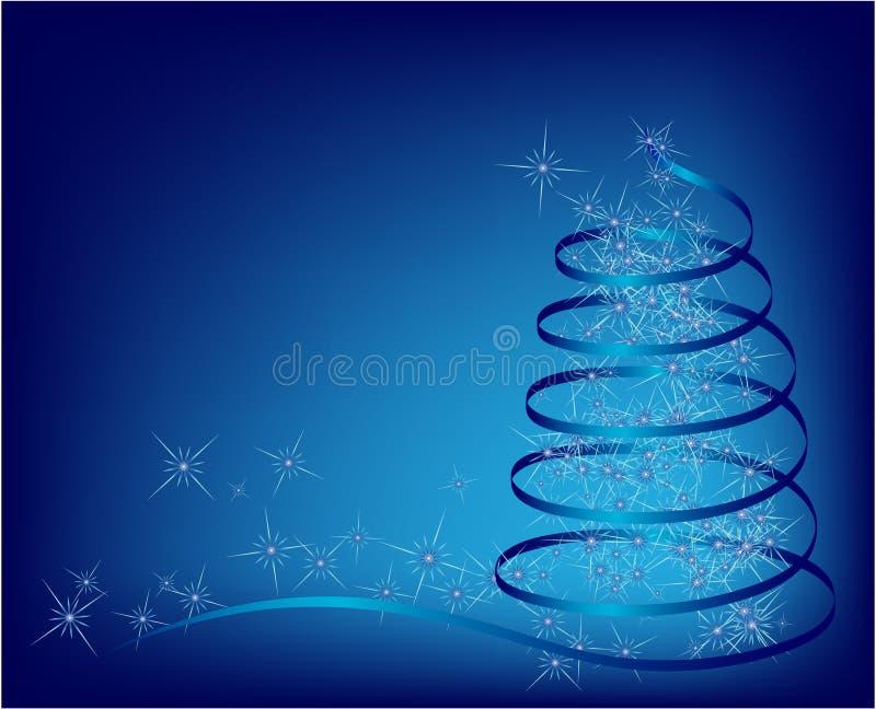 Arbre de Noël abstrait bleu image stock