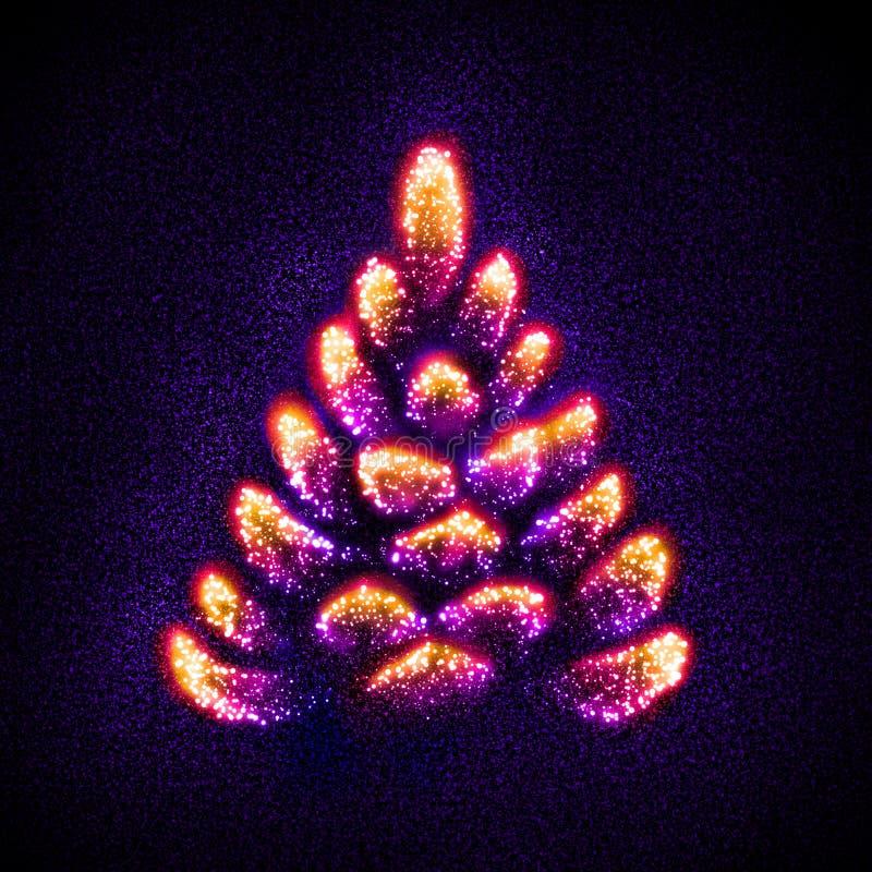 Arbre de Noël abstrait construit des étoiles photographie stock libre de droits
