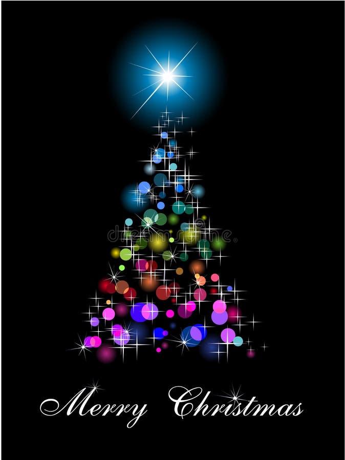 Arbre de Noël abstrait d'arc-en-ciel illustration de vecteur