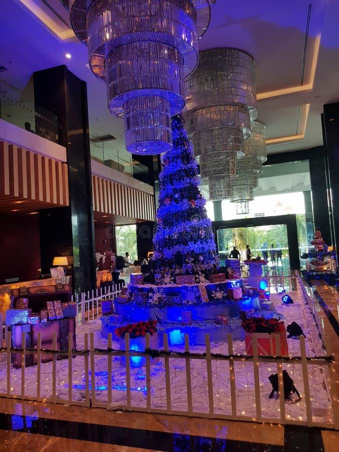 Arbre de Noël autour de Penang Malaisie photographie stock libre de droits