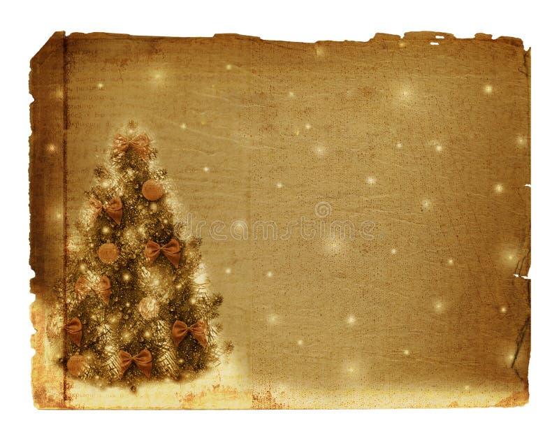 Arbre de Noël avec des billes et des proues illustration stock