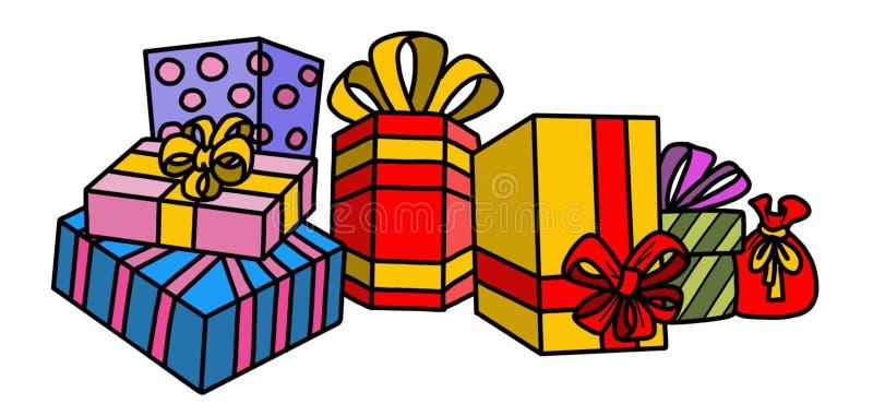 Arbre de Noël avec des cadeaux et des ornements image stock