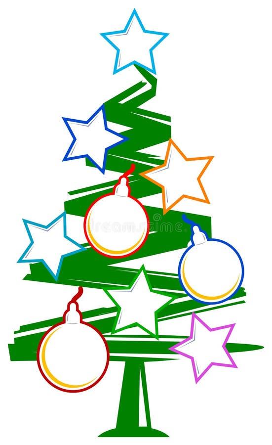 Arbre de Noël avec des trames illustration libre de droits