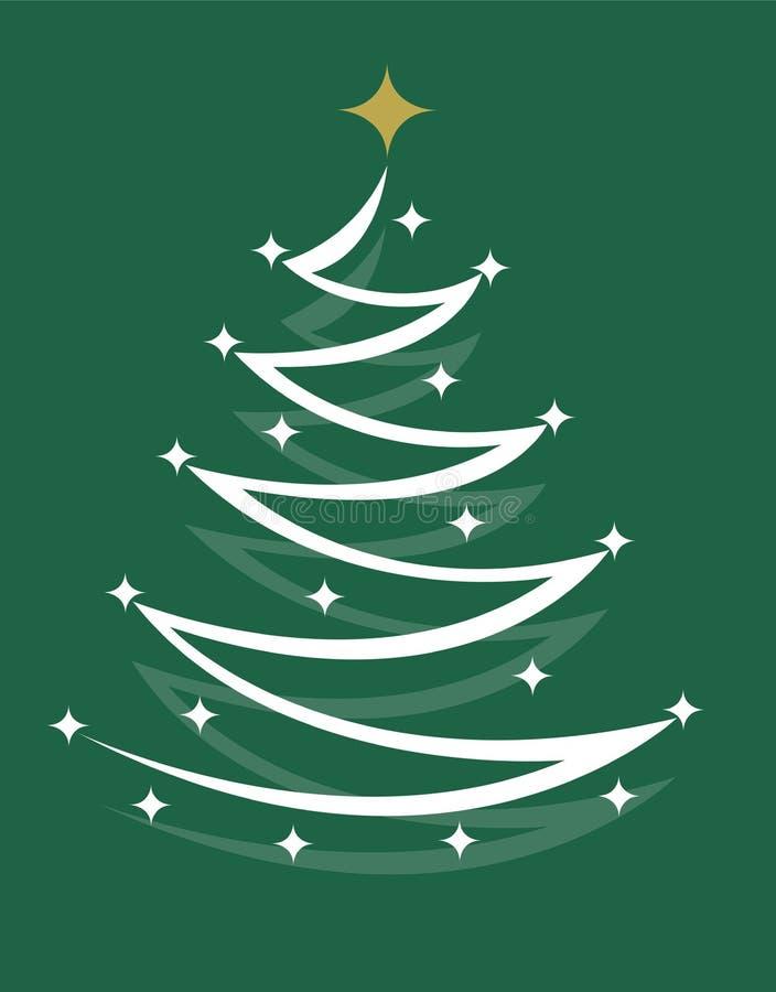 Arbre de Noël avec l'étoile illustration libre de droits