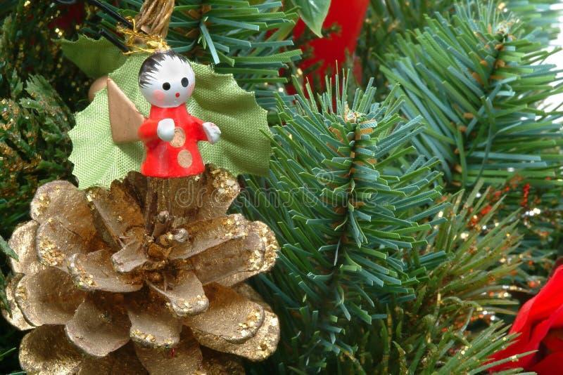 Arbre de Noël avec l'ange images libres de droits
