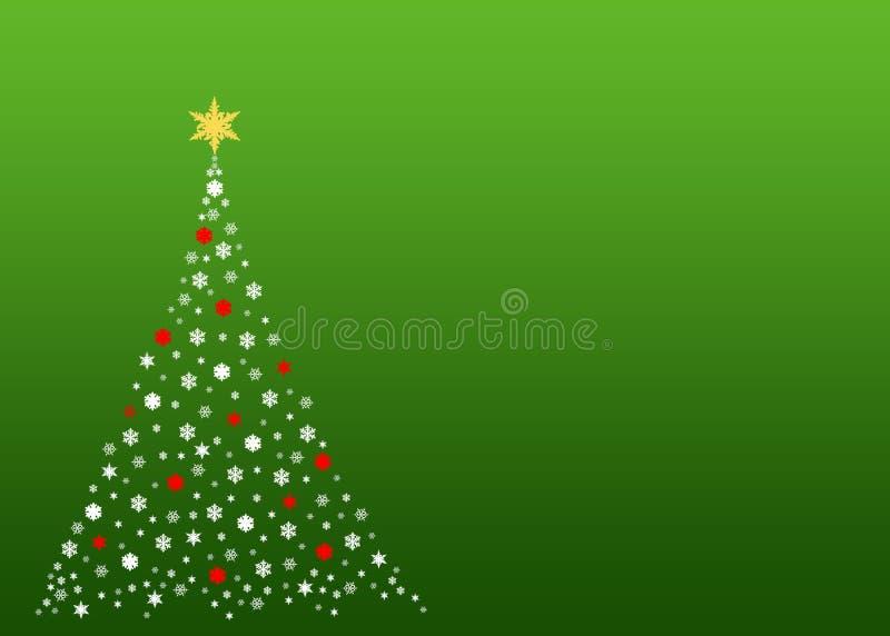 Arbre de Noël blanc sur le vert illustration libre de droits