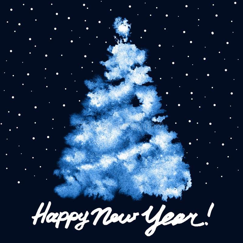Arbre de Noël bleu illustration libre de droits