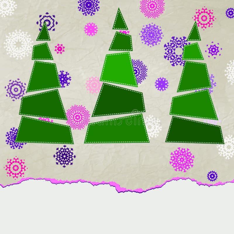 Arbre de Noël bleu décoré. ENV 8 illustration de vecteur