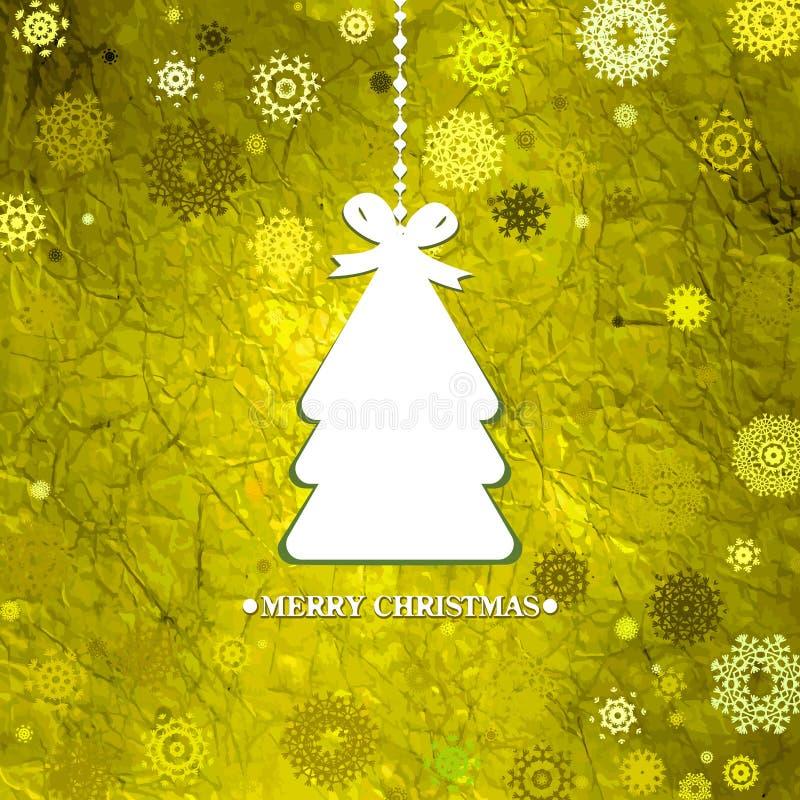 Arbre de Noël bleu décoré. ENV 8 illustration stock