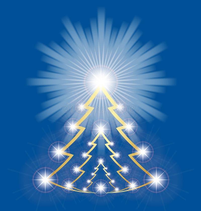 Arbre de Noël brillant illustration de vecteur