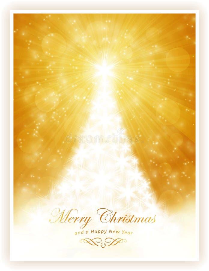 Arbre de Noël brillant blanc illustration stock