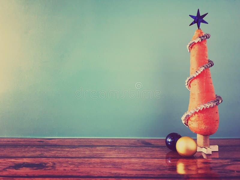 Arbre de Noël de carotte image libre de droits