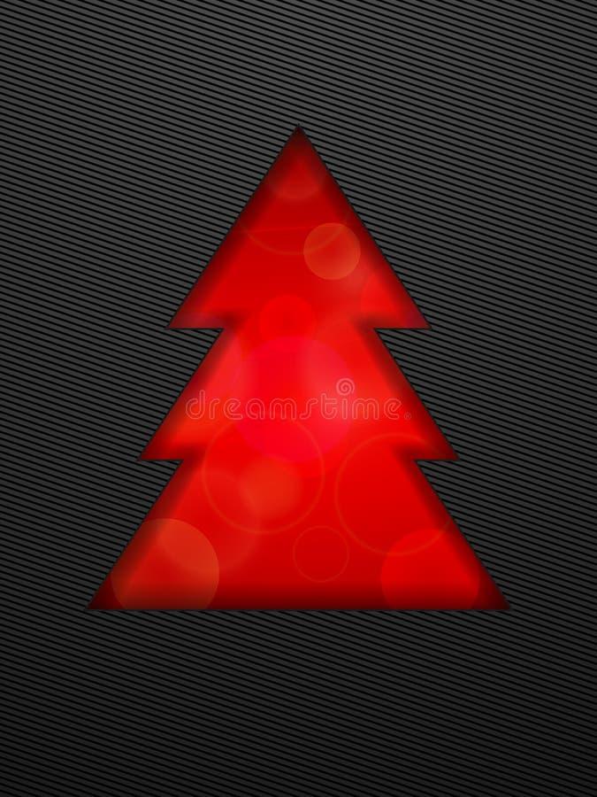 Arbre de Noël créatif coupé à l'arrière-plan noir illustration libre de droits