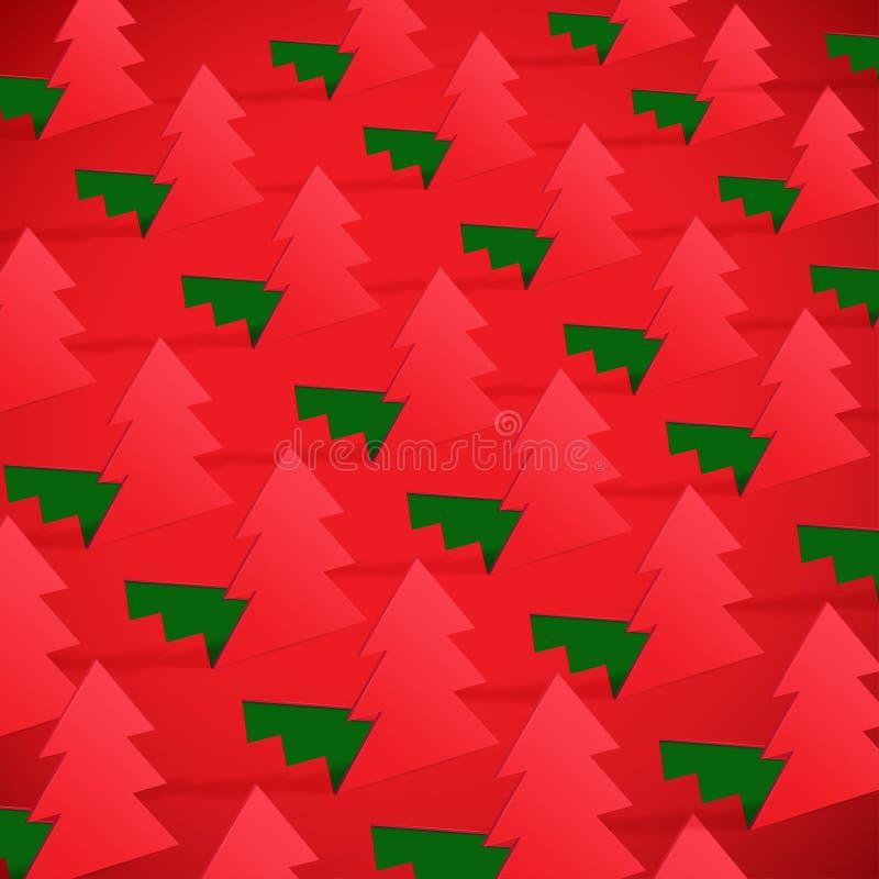 Arbre de Noël créatif formé du papier coupé. illustration de vecteur