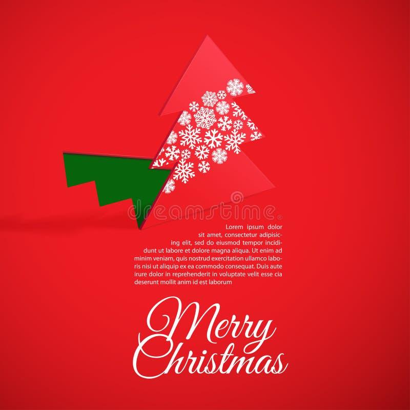 Arbre de Noël créatif formé du papier coupé. illustration stock