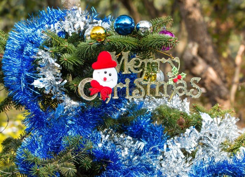Arbre de Noël décoré photographie stock libre de droits