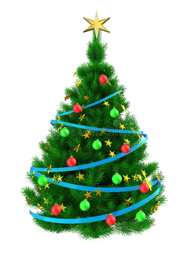 arbre de Noël 3D illustration de vecteur