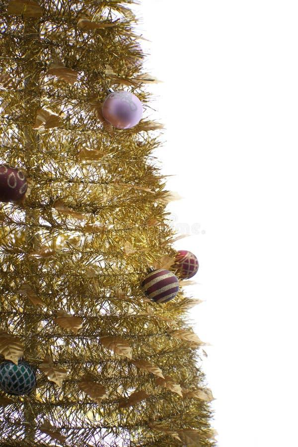 Arbre de Noël d'or image libre de droits