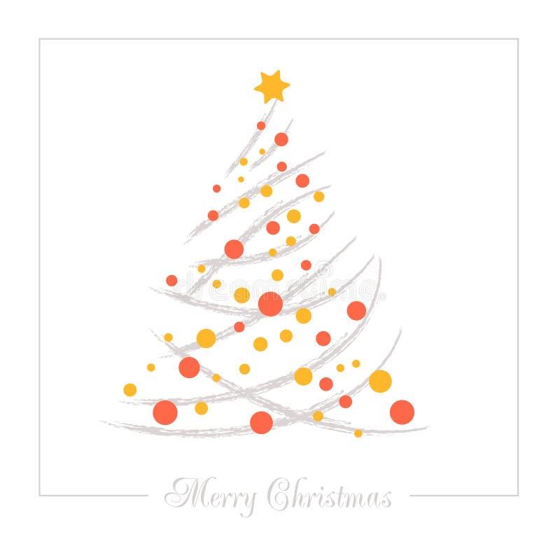 Arbre de Noël d'abrégé sur illustration de vecteur illustration stock