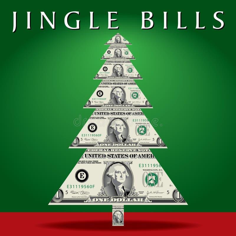 Arbre de Noël d'argent illustration libre de droits