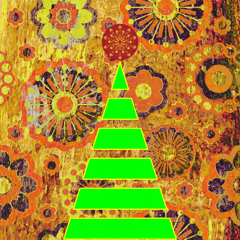 Arbre de Noël d'art illustration de vecteur