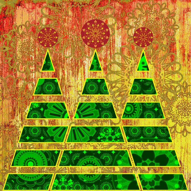 Arbre de Noël d'art illustration stock