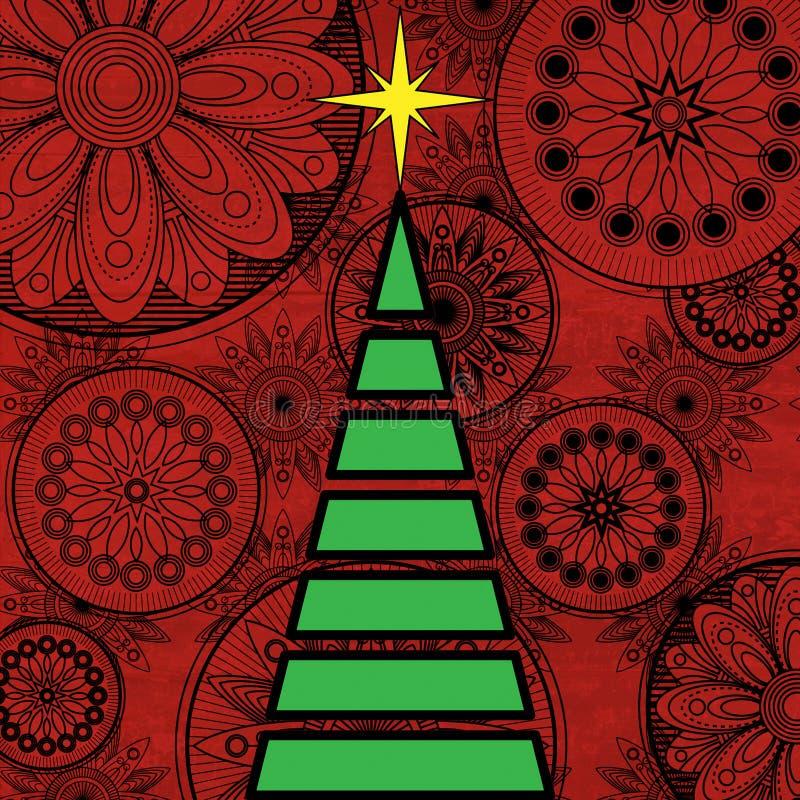 Arbre de Noël d'art illustration de vecteur