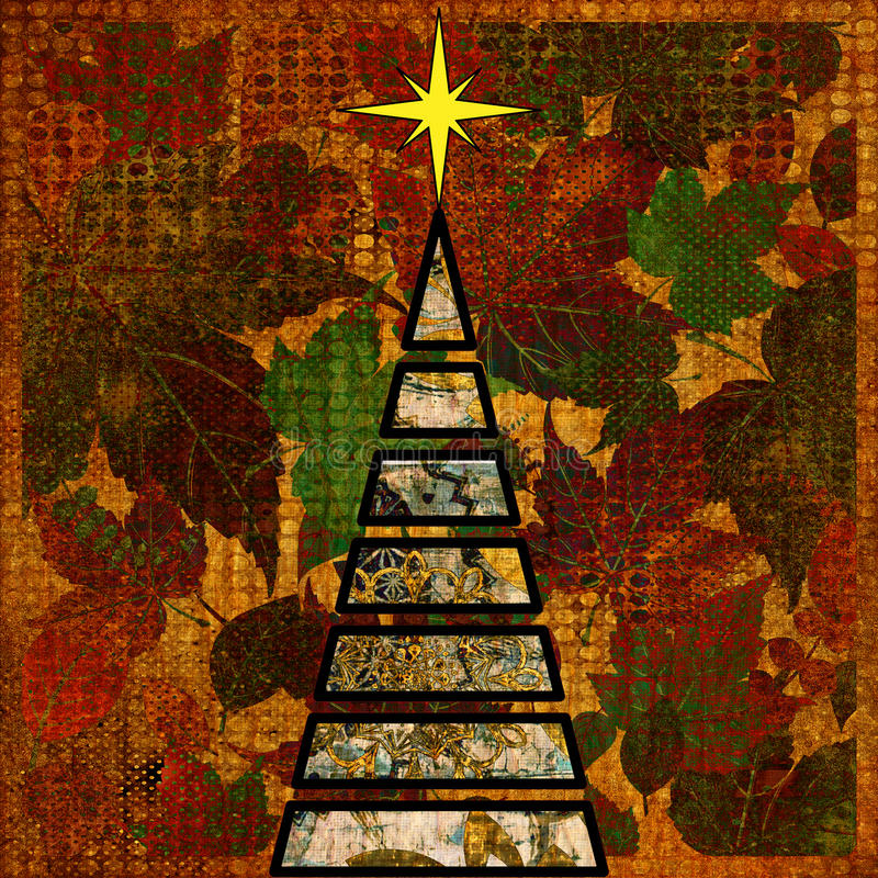 Arbre de Noël d'art illustration libre de droits