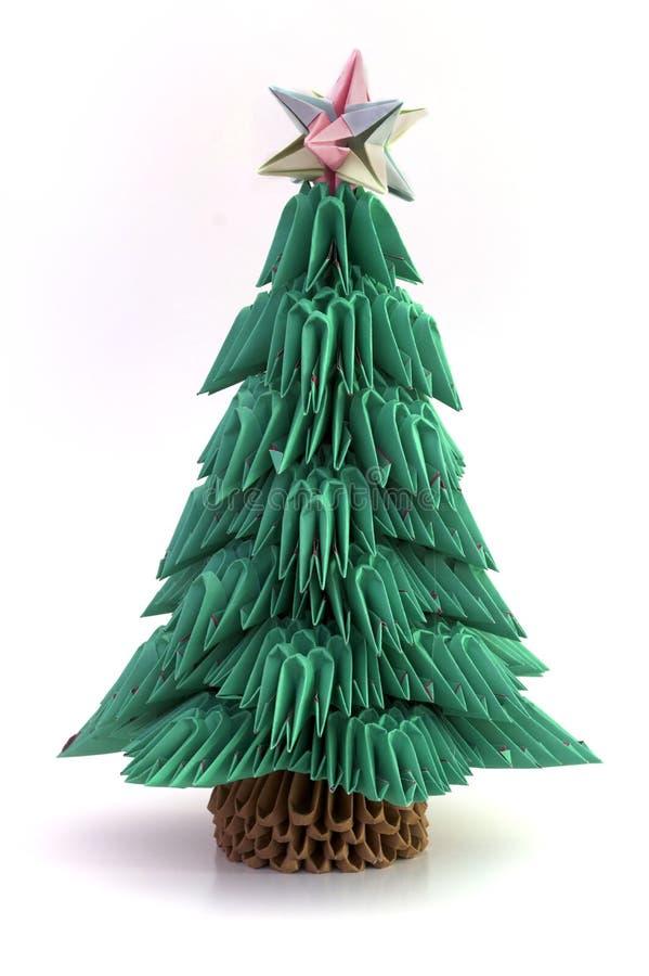 Arbre de no l d 39 origami avec l 39 toile illustration stock illustration du no l d coratif - Arbre de noel origami ...