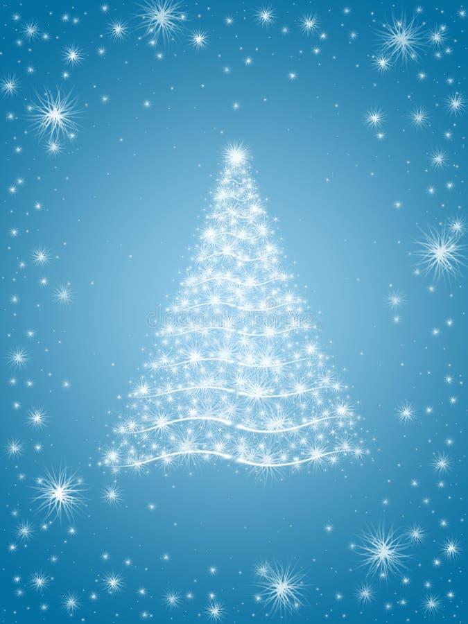 Arbre de Noël dans le bleu illustration stock