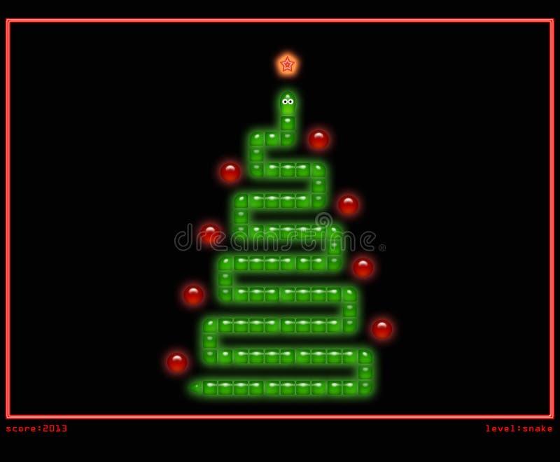 Arbre de Noël dans le type du jeu de serpent illustration de vecteur