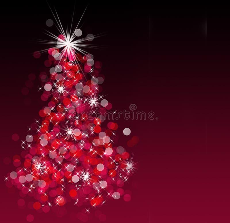 Arbre de Noël de Bokeh illustration libre de droits