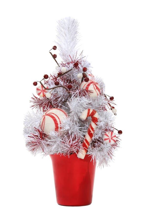 Arbre de Noël de canne de sucrerie photos libres de droits