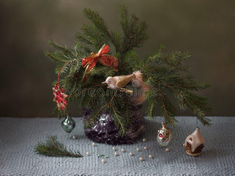 Arbre de Noël de cru photographie stock