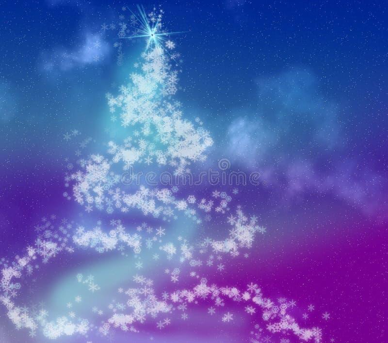 Arbre de Noël de flocon de neige illustration de vecteur