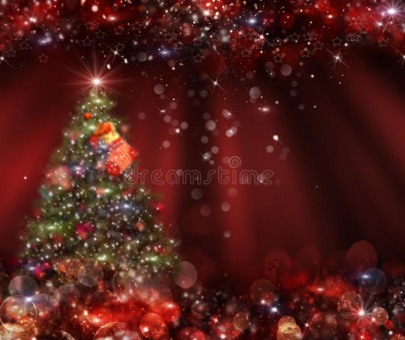 Arbre de Noël de fond à l'arrière-plan photo libre de droits