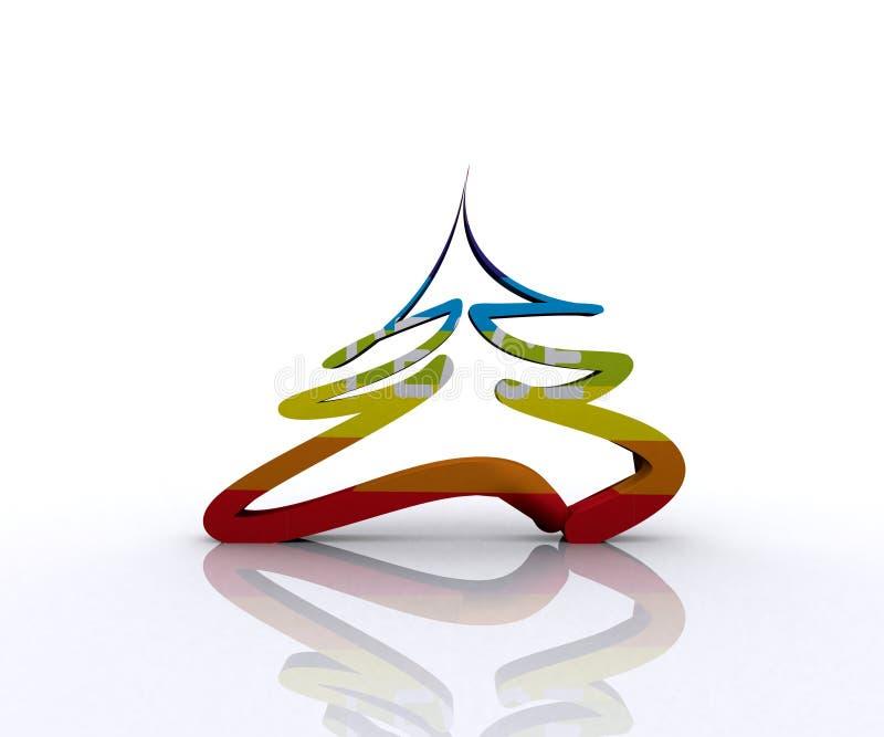 Arbre de Noël de la paix - 3D illustration stock